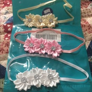 Other - Brand new 3 piece baby girl flower headband set